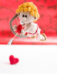 Cupid from the book amigurumi's in love