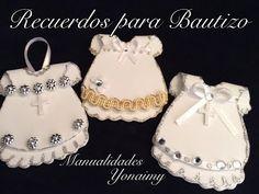 VESTIDITO PARA RECUERDOS DE BAUTIZO Y/O PRIMERA COMUNION HECHOS CON FOAMY O GOMA EVA. - YouTube