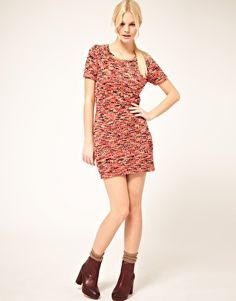 ASOS Boucle Knit Shift Dress