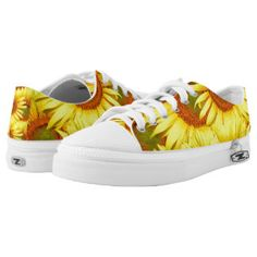 Sunny Sunflowers Low Top Printed Shoes