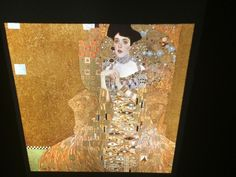 "Gustav Klimt ""Portrait Of Adele"" Austrian Art Nouveau 35mm Glass Art Slide  
