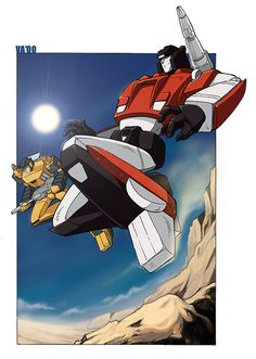 Sideswipe and Sunstreaker by retrolex.deviantart.com