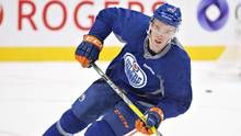 McDavid becomes youngest captain in NHL history as Oilers give him the C Connor Mcdavid, Edmonton Oilers, Nhl, Hockey, Feels, Baseball Cards, Game, History, Sports