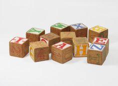 Vintage Alphabet Blocks Set of 12 by BrooklynRetro on Etsy, $15.00