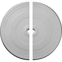 Ekena Millwork 51-1/8 in. O.D. x 3-5/8 in. I.D. x 1-1/2 in. P Nevio Ceiling Medallion (2-Piece)