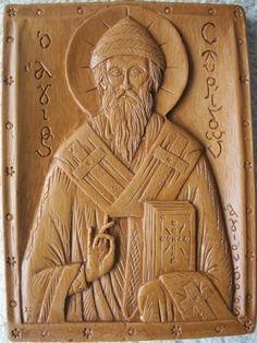 Saint Spyridon Trimythous  11cm x 12cm (4.33inches x 4.72inches)