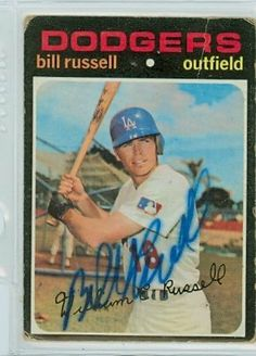 Bill Russell AUTO 1971 Topps Dodgers by Regular Topps Issue. $7.50. This vintage 1971 Topps Baseball card was signed by Bill Russell and authenticated by PSA/DNA - a leading 3rd party authenticator