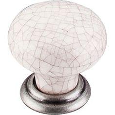 "Large Knob 1 3/8"" - Pewter Antique & Antique Crackle #Knobs #Handles #Pulls"