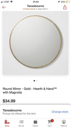Round Mirrors, Shop My, Master Bedroom, Gold Necklace, Wallet, Jewelry, Master Suite, Gold Pendant Necklace, Jewlery