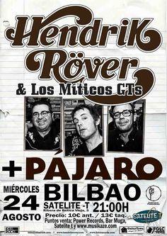 PÁJARO y HENDRIK RÓVER Y LOS MÍTICOS GT'S Bilboko Aste Nagusia 2016, Satélite T, Bilbao, 24/VIII/2016 | Entrada | GALERÍA completa || Full GALLERY: http://denaflows.com/galerias-de-fotos-de-conciertos/p/pajaro/ | http://denaflows.com/galerias-de-fotos-de-conciertos/h/hendrik-roever/