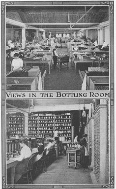 bottling of medicines at the Eli Lilly Pharmaceutical Co. Indianapolis 1920's