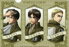 Eren is always ma boi Anime Manga, Anime Guys, Me Me Me Anime, Levi And Erwin, Vocaloid, Stitch And Angel, Attack On Titan Levi, Titans Anime, Ereri