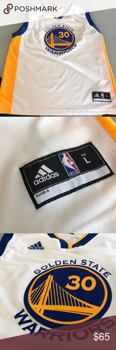 Stephen Curry Youth Jersey Youth Large Warriors Jersey. (Worn once or  twice) Adidas fe621843b