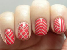 the nail polish challenge: Fun With Striping Tape
