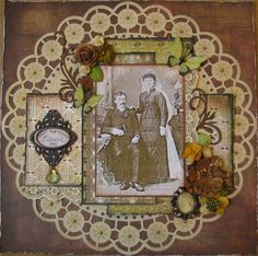 John & Louise Branch, 1885 ~ Lovely Victorian wedding page.