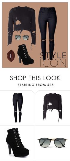 """""""Untitled #29"""" by fldzhputri on Polyvore featuring adidas Originals, Ray-Ban and Lime Crime"""