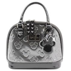 Disney Discovery- Minnie Loves Mickey Silver Embossed Mini Bowling Satchel