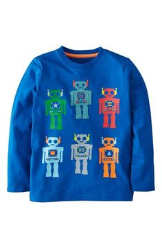 Mini Boden 'Multi Logo' Screenprint T-Shirt (Little Boys & Big Boys) available at #Nordstrom