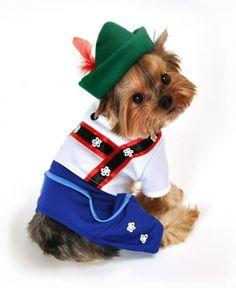 "Bavarian ""Lederhosen Boy"" Dog Costume"