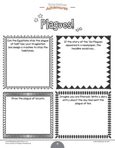 Moses and the Ten Plagues printable Bible Activity Book for Kids. Learn all about the Ten Plagues, the Passover, and Unleavened Bread. Bible Resources, Bible Activities, Activity Books, Activity Ideas, Sunday School Teacher, Sunday School Lessons, Bible Lessons, Lessons For Kids, Miracles In The Bible