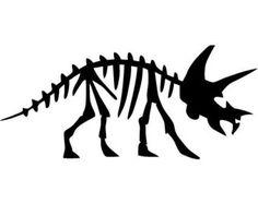 Triceratops Dinosaur Fossil - SMALL - Vinyl Wall Decal, Sticker