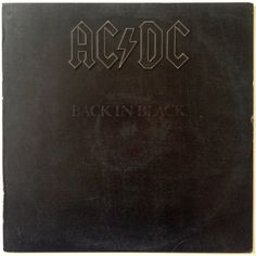AC/DC -  Back In Black LP Vinyl Record Album, Atlantic - sd 16018, Hard Rock, Classic Rock, 1980, Original Pressing
