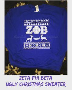 Zeta Ugly Christmas Sweater  #custommade #uglysweater #zetaphibeta #zeta4life #greek #sorority #sisterhood #woodbridge #cynthiascraftsinvirginia @zetaphibeta_ @zetaphibetapgz
