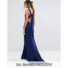 Shop Jarlo Tall Maxi Dress With Bow Tie Back at ASOS. 3d73f5130c2