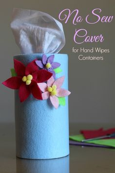 As part of our Spring Cleaning we created an adorable flower cover for our Purell Hand Sanitizing Wipes from @Walmart! #PurellWipes #ad #cbias