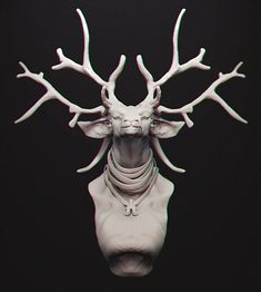 Deer Lord, Kurt Papstein on ArtStation at http://www.artstation.com/artwork/deer-lord