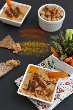 Sun Dried Tomato Hummus with Crispy Chips