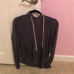 Brandy Melville Layla Hoodie Cute and comfortable! Amazing condition! Willing to trades FOR BRANDY ONLY!!! Also open to offers! :) Brandy Melville Sweaters