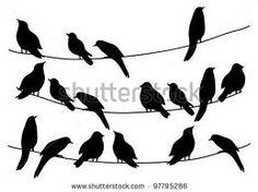 Bathroom wall? birds sitting on a wire wall - Google Search