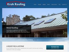 Kroh Roofing, of Clarion PA, hired TechReady Professionals for assistance in modernizing their existing website with a fresh design, social media integration and the ability to provide customers with multiple avenues to contact the firm.    Services & Features:  - Website Design & Hosting  - Logo Integration & Graphic Design  - Social Media Integration  - Slider & Contact Forms  - Branded Email Accounts. To learn more, please visit: http://www.KrohRoofing.com