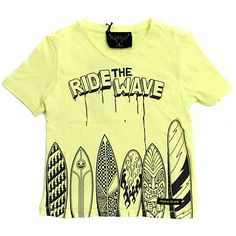 Finger in the Nose Yellow Surfboard Tee