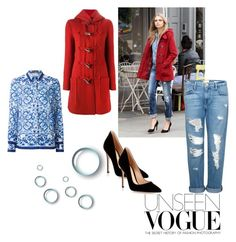 """Bez naslova #7"" by nermina-hasic ❤ liked on Polyvore featuring Lanvin, Dolce&Gabbana, Frame Denim and Gianvito Rossi"