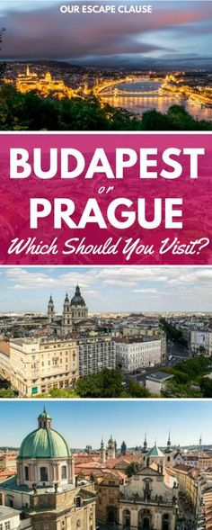 Prague or Budapest: both are beautiful, both are set on rivers, and both are located in Central Europe--planning a Central European travel itinerary often means picking between Budapest and Prague! Here's some thoughts on how to choose (if you must).