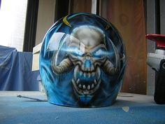 peinture casque moto  aerographe skull pau aquitaine
