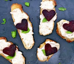 Roasted Heart Beets and Vegan Cashew Cream Cheese Crostini by Just Beet It Ginger Chutney Recipe, Chutney Recipes, Beet Chips, Veggie Chips, Sauteed Beet Greens, Cheese Ingredients, Pickled Beets, Beet Recipes, Protein Bites