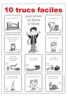 danger école routine get ready for school preparation morning back to school French Teaching Resources, Teaching French, Teaching Tools, French Education, Kids Education, How To Speak French, Learn French, French Classroom, School Classroom