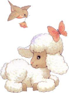 Illustrations, Illustration Art, Christmas Stationery, Cute Sheep, Sheep And Lamb, Cute Animals, Baby Animals, Gif Animé, Applique Patterns