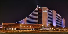 Jumeirah Beach Hotel - Exterior - Front View at Night