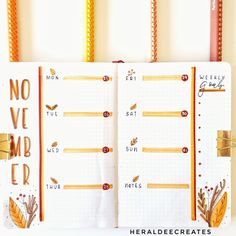 Here is my Cozy Autumn Bullet Journal Theme. Be inspired with these creative fall-themed bujo spreads that are perfect for this season! Autumn Bullet Journal, Bullet Journal Flip Through, Bullet Journal Notebook, Bullet Journal Themes, Bullet Journal Inspo, Bullet Journal Spread, Bullet Journal Layout, Schul Survival Kits, Printable Calendar Template