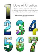 This Creation Theme is based on Genesis 1:1-31;2:1-3. This ...