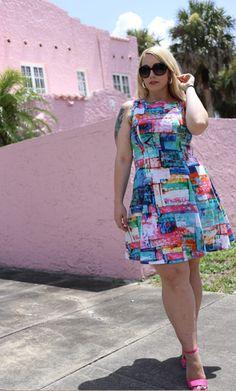 @karen_kane  Full Spectrum Scuba Dress on Gwynnie Bee member Cayla Jean