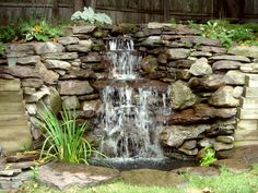 pond with waterfall - Bing Images