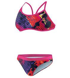 Nike Women's Tie Dye 2PC Sport Top #swimoutlet
