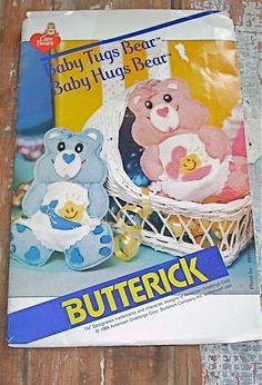 Butterick 998 Uncut Pattern Care Bears Baby Tugs by WestbrookFarm