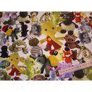 Jerseystoff weiß mit Tiere Teddybär Elefant Frosch. Der Stoff ist 150cm breit mit verschiedenfarbigen Tieren und eignet zum Nähen für Mützen oderSchals (Loopschal), Kleider, Jacken, Pullover aber auch zum Kombinieren mit anderen Stoffen und vieles mehr.Material: 95%Baumwolle 5% Elasthan Breite: 150cm Pflege: 30° waschbar
