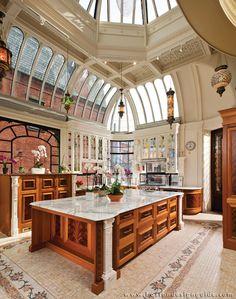 Home Interior Design — Conservatory Kitchen, downtown Boston Luxury Kitchen Design, Best Kitchen Designs, Dream Home Design, Luxury Kitchens, My Dream Home, Home Interior Design, House Design, Kitchen Ideas, Kitchen Inspiration